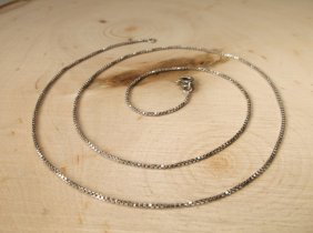 """Beautiful Sterling Silver Chain Necklace 18"""""""