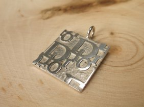 Gorgeous Heavy Sterling Christian Dior Pendant