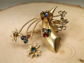 Beautiful Antique Rhinestone Brooch