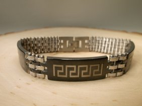 Gorgeous Stainless Steel Mens Biker Bracelet