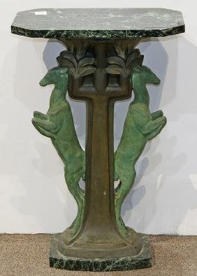 French Art Nouveau Occasional Table, Having An