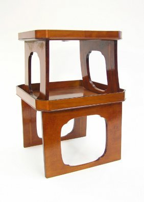 Japanese Lacquered Wood Stands
