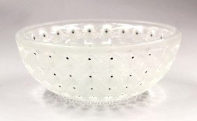 Lalique 'Nemours' Crystal Bowl