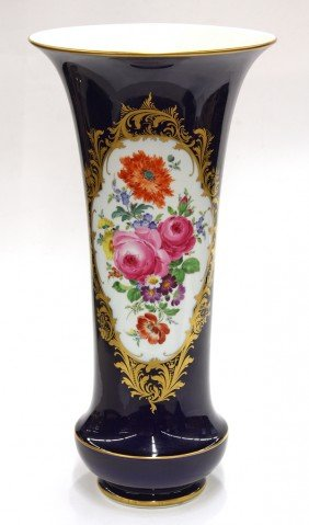 Meissen Cobalt Decorated Vase