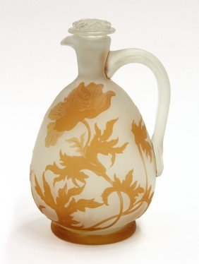 Galle Cameo Glass Ewer