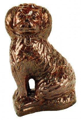 Pennsylvania Redware Dog Sculpture