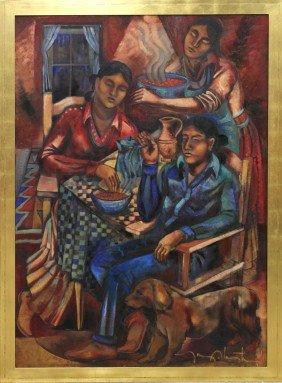 Painting, Tony Abeyta, Pueblo Home
