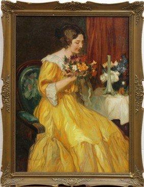 Painting, Louis Jambor, Young Girl