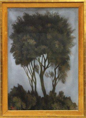 Painting, Corrado Cagli, Trees