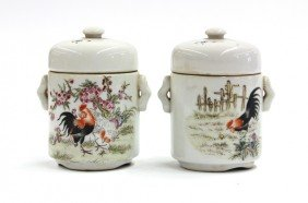 Two Chinese Covered Vessels