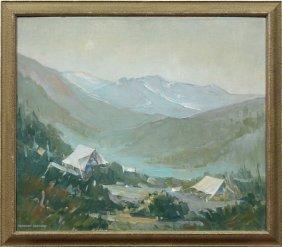 Painting, Herbert Jackson, Mountain Landscape