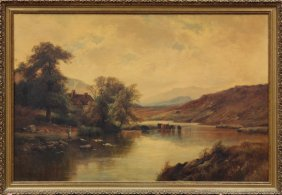 Painting, Alfred De Breanski, Bala, North Wales