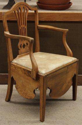 Georgian Style Commode Chair