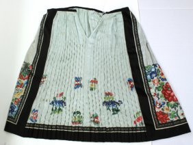 Two Chinese Silk Skirts