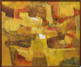 Painting, Abstract, Signed ''Barbara Engle''