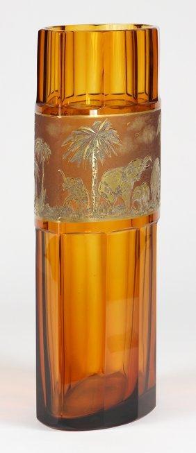 Moser Karlsbad Bohemian Glass Vase
