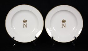 French Edouard Honore Porcelain Soup Plates