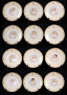 Haviland Limoges Hand Painted Cabinet Portrait Plates