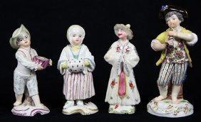 (lot Of 4) German Porcelain Figurines