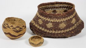 (lot Of 3) Nothern California Basketry Group