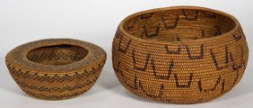 (lot Of 2) Central California Fine Baskets