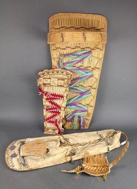 (lot Of 3) Native American Cradle Boards