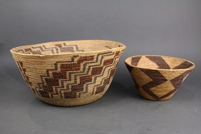 (lot Of 2) Native American Central California Basketry