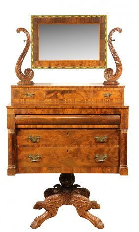 American Classical Flame Mahogany Dressing Table