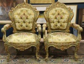 Pair Of Italian Salon Chairs