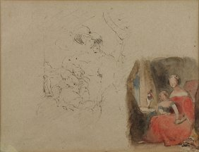 Work On Paper, Attributed To David Roberts