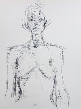 Print, Alberto Giacometti, Nude Torso