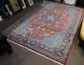 Semi Antique Persian Sarouk Mahal Carpet