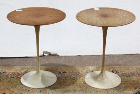 """Pair Of Mid-century Modern """"tulip"""" Occasional Tables"""