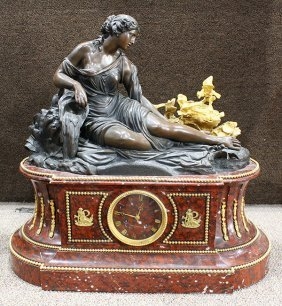 Louis Xvi Style Deniere Patinated Bronze And Marble