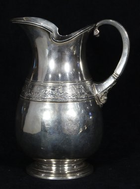 American Classical Sterling Silver Water Pitcher