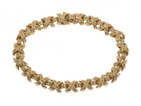 "Tiffany & Co."" Signature"" 18k Yellow Gold Bracelet"