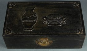 Chinese Wood Document Box, Vessels