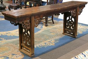 Chinese Wooden Altar Table, Dragons
