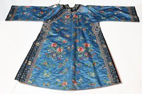 Chinese Woman's Blue Winter Robe