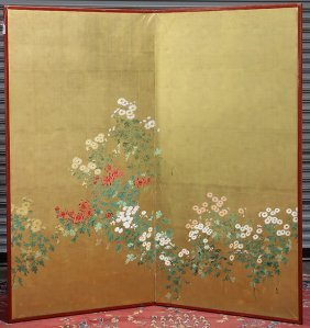 Japanese Large Two-panel Screen