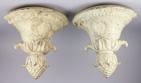 (lot Of 2) Pair Of Victorian Cast Iron Hanging