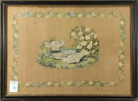 French Needlepoint Sampler, Early 19th Century,
