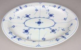 Royal Copenhagen Porcelain Blue Fluted Lace Serving