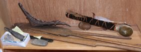 (lot Of 13) Group Of Ethnographic Artifacts And
