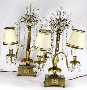 Pair Of Hollywood Regency Lamps