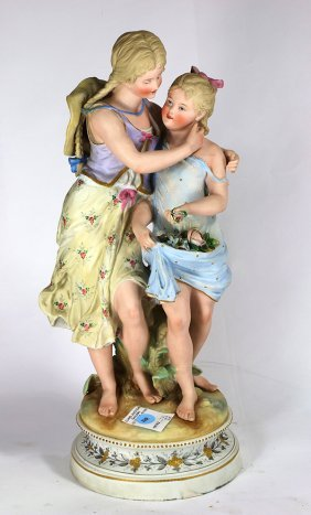 Continental Bisque Porcelain Figural Group