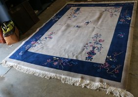 Chinese Art Deco Style Carpet, 9' X 12'