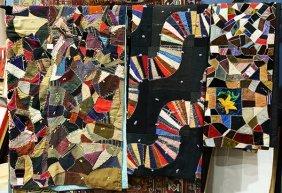 (lot Of 4) Victorian Crazy Quilts