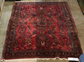 (lot Of 2) Semi Antique Persian Sarouk Carpets