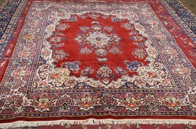 Semi Antique Persian Sarouk Carpet